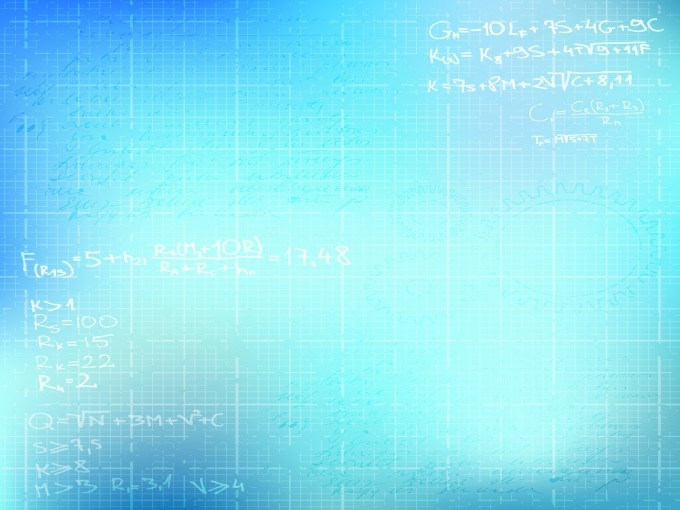 Basic math ppt templates backgrounds is a blue and white for Math powerpoint templates free download