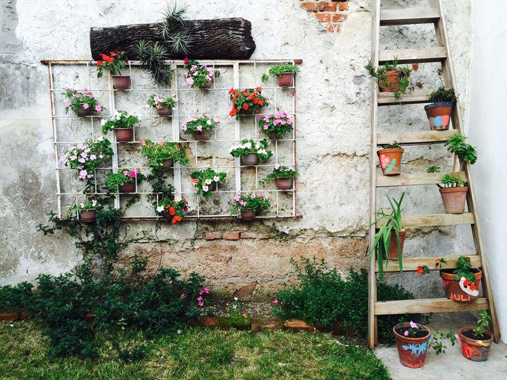 17 b sta id er om macetas para colgar p pinterest rejas for Ideas para colgar plantas