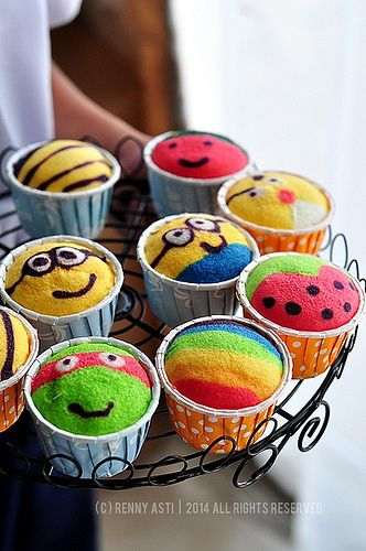 Fancy steamed Cupcake