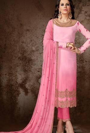 ea6a97d279 Pink Designer Indian Suit   Saree & Kurtha   Pakistani designer ...