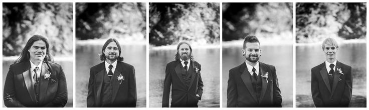 The Groomsmen individual photos - I like to shoot each wedding party member individually to remember that time they were so dressed up and looking awesome!  These handsome guys were part of a Muskoka Wedding in Port Sydney ONtario shot by Love Bee Photography