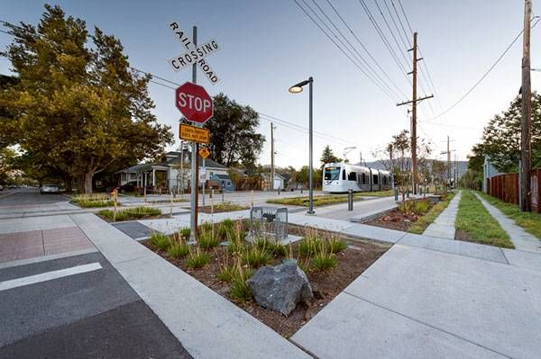 Sugar House S-Line Streetcar and Greenway, by CRSA, in Salt Lake City, Utah, United States.