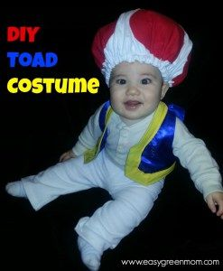 DIY Toad from Mario Brothers Costume