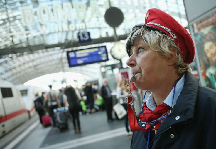 """The """"ugly German"""" appeared in the form of a Deutsche Bahn ticket collector on a train speeding from the city of Würzburg towards Berlin earlier this month."""