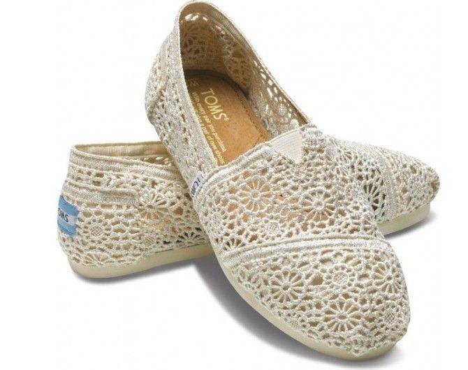 Toms Womens Crochet shoes Beige [toms001] - $24.95 :