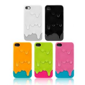 3D Ice Melt Cream Hard Back Case Cover Skin For iPhone 4/4S