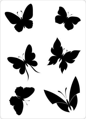 Details about Stencil Cake Decoration Airbrush Tattoos Butterfly Butterflies Bundle Scrapbook