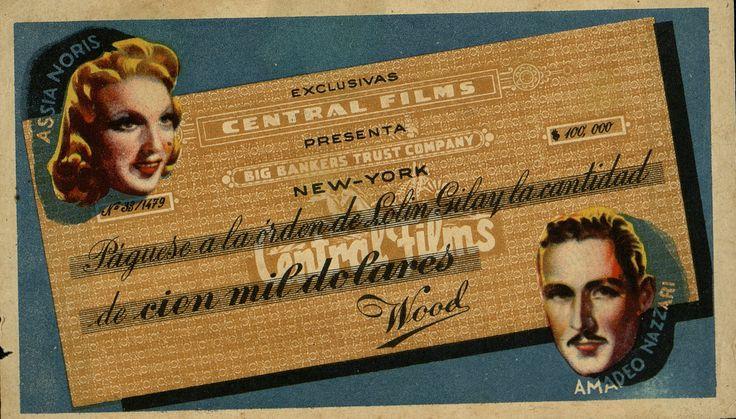14.Cien mil dólares. Dirigida por Mario Camerini. [1940] .#ProgramasdeMano #BbtkULL #Troquelados #DiadelLibro2014