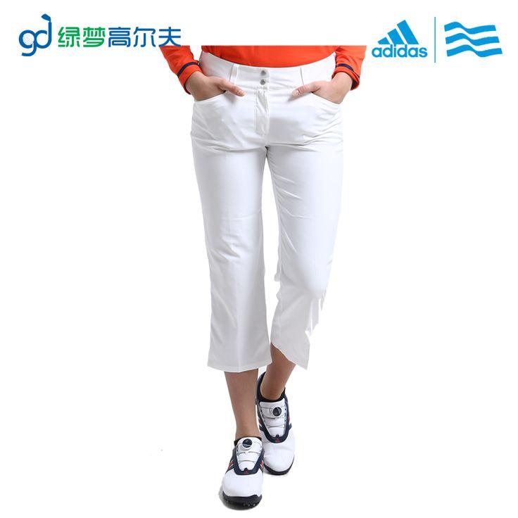 Adidas женская одежда для гольфа гольф женские капри брюки брюки поглощения влаги и пота выпуская ПРОДАЖИ
