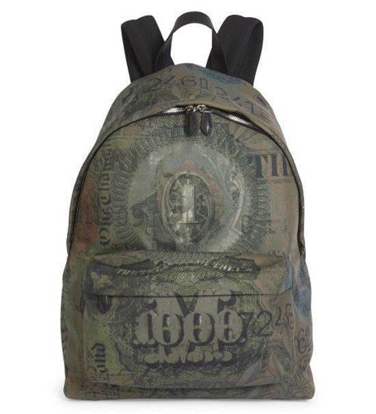 Givenchy Abstract Dollar Printed Backpack Multicolor        $235.00