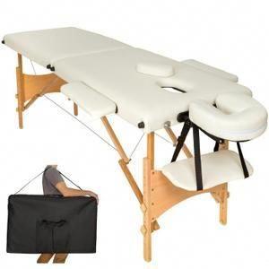 Table De Massage Pliante 2 Zones Bois Cosmetique Lit De Massage Portable Beige Tectake Housse Sac De Transport Notre Table De Massage Vous A Massage Table