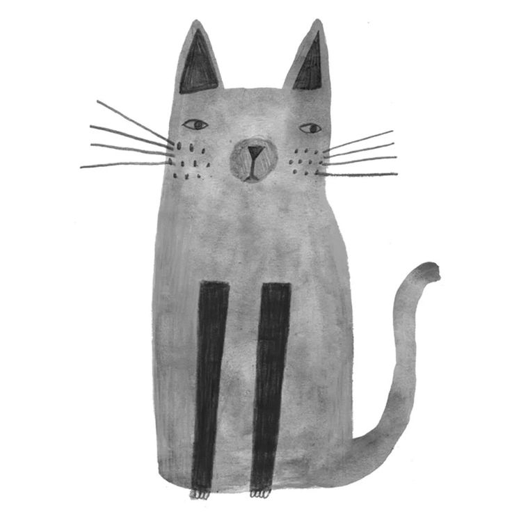 cute, ink, pencil, cat, character, kids, drawing, illustration, design