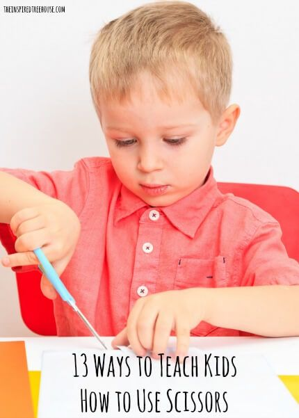 http://theinspiredtreehouse.com/teach-kids-how-use-scissors/ - Love these ideas! 13 great ways to teach your child how to use a scissors.
