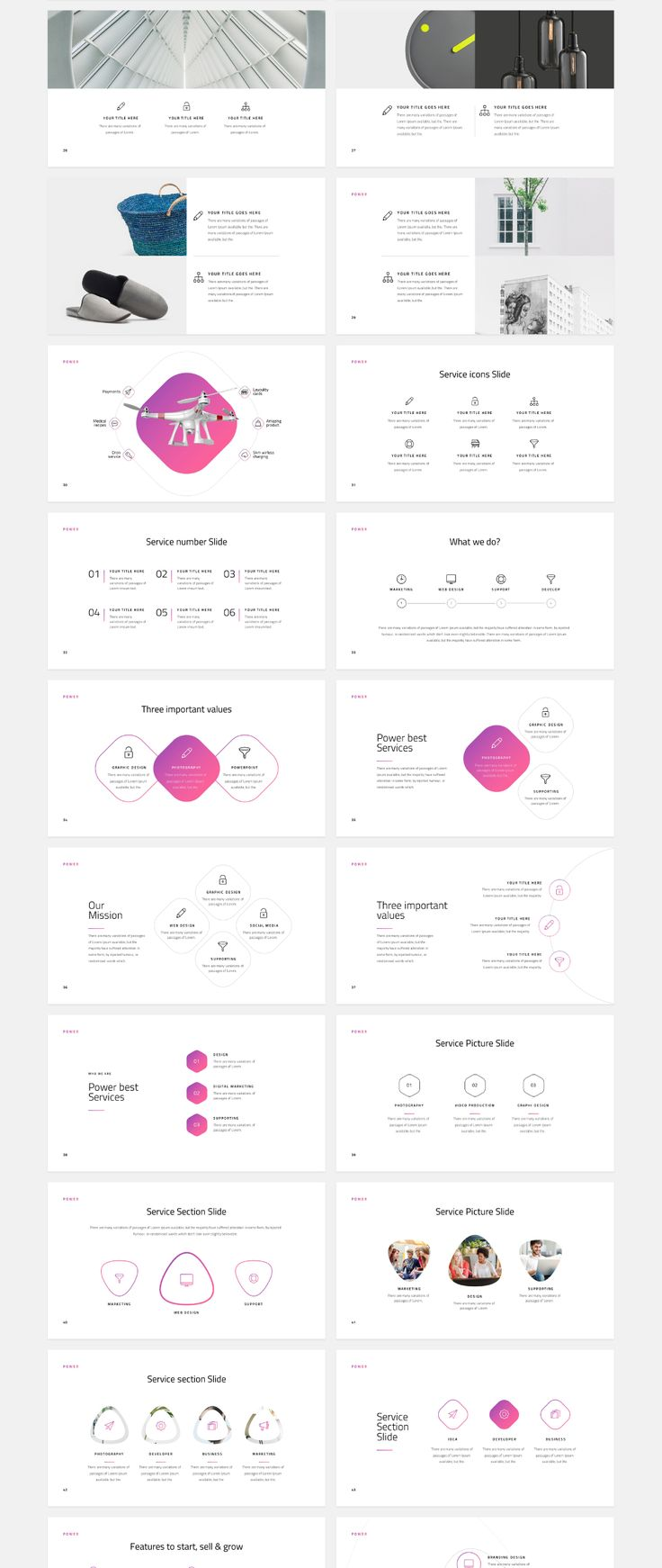 A powerful & creative slide presentation designed for Keynote & Powerpoint. Power includes 120+ unique presentation slides with a stunning professional layout and creative design. Easy to change colors, modify shapes, texts, & charts. All shapes are editable. Icons and only powerpoint 20 colors versions included.
