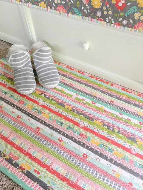 Carried Away Quilting Makes A Jelly Roll Rug Pattern By Rj Designs Fabric Corey Yoder For Moda Flower Mill