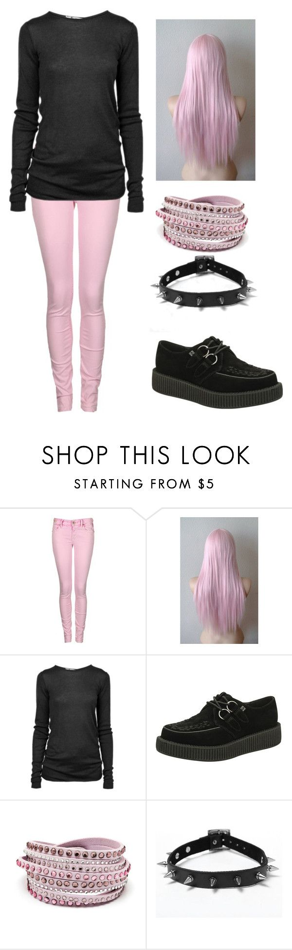 """Outfit 604 (Pastel Goth)"" by creaturefeaturerules ❤ liked on Polyvore featuring Replay, T By Alexander Wang and T.U.K."
