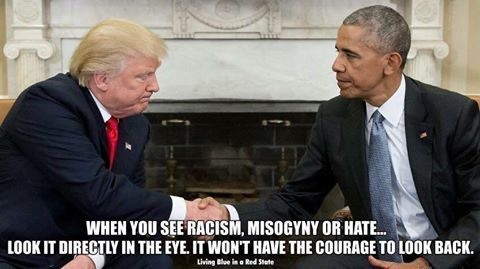 The look on Trumps face - somewhere he knows he's not a tenth the man Obama is
