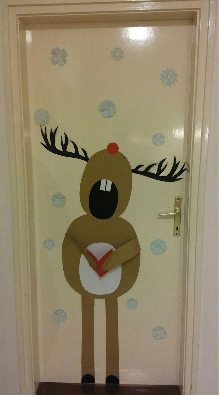 Szarvas ajtó dekoráció