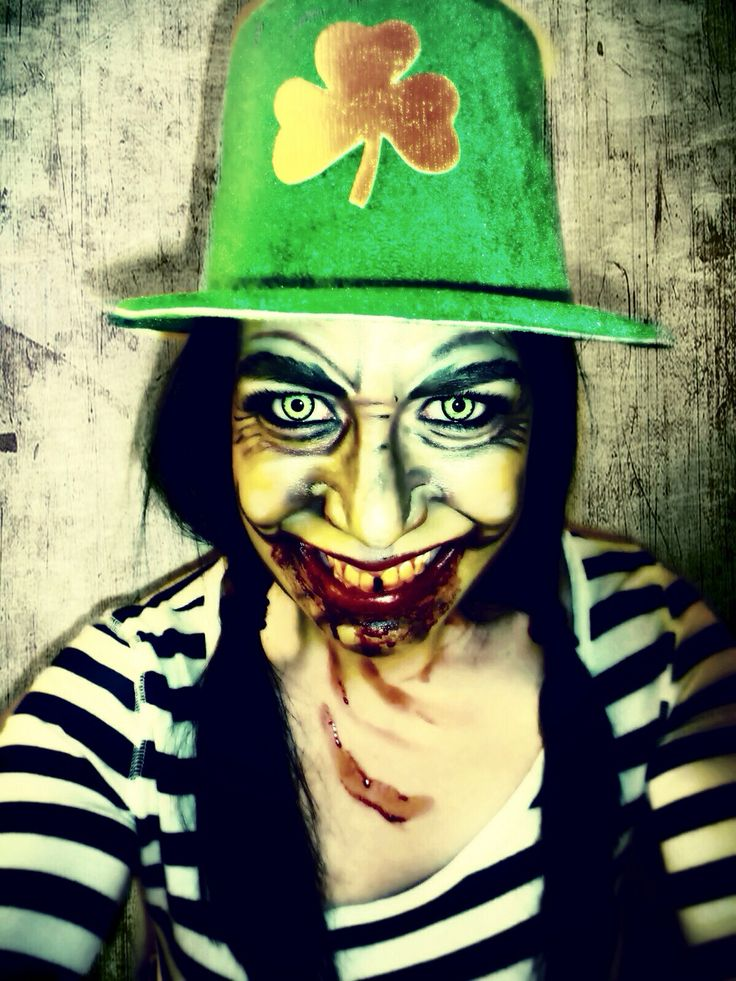 Happy St. Patrick's Day! Leprechaun Makeup, Halloween, Costume, Special Effects Makeup. Artist: Jacquie Lantern, The Dead End Hayride - Wyoming, MN www.jacquielantern.com