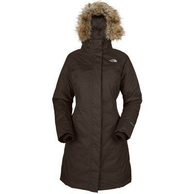 The North Face Women's Arctic Parka (M, Bittersweet Brown) by The North Face. $263.96. The North Face Women's Arctic Parka has a faux fur trim adding to the winter style on this fully waterproof and insulated garment designed for the wildest of winter days. This stylish trench coat features luxurious 550 fill down insulation for easy defence against freezing temperatures, enhanced by that collar trim around the adjustable and detachable hood and internal fleece in the cuffs.S...