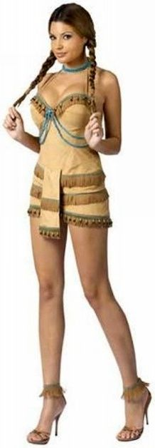 i could definitely pull off the Pocahontas costume lol