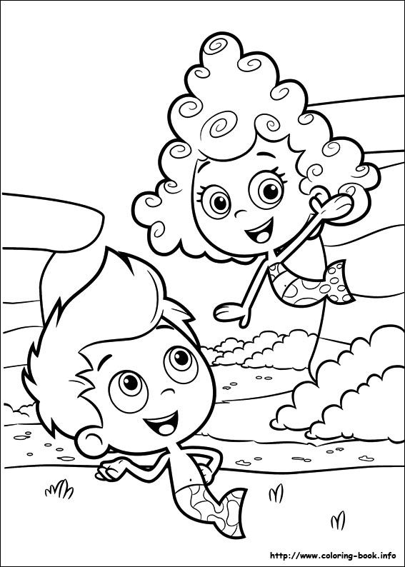 Coloring Pages Based On Cartoons Are Very Popular With Younger Kids Check 10 Free Printable Bubble Guppies To Improve Their Artistic Skills