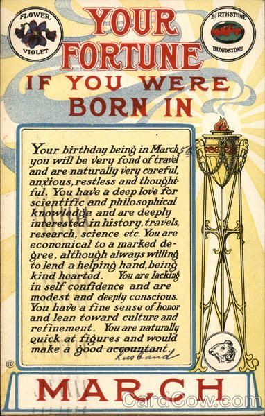 Your Fortune if You Were Born in March Astrology & Zodiac