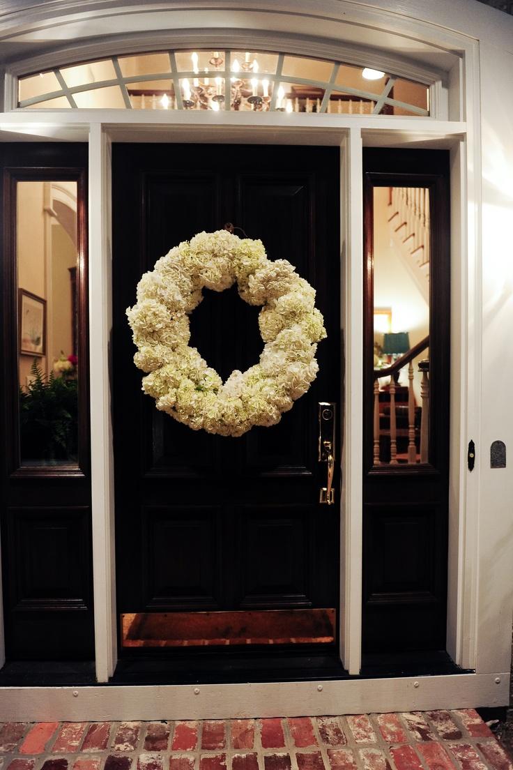 hydrangea wreath for my new door