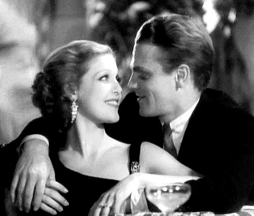 Loretta Young and James Cagney in Taxi! (Roy Del Ruth, 1932). A beautifully done gif from bridiequilty.