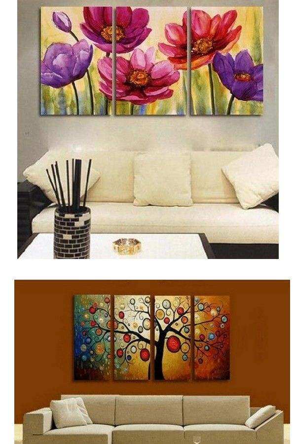 Flower Art Floral Painting Canvas Painting Original Art Large Painting Abstract Oil Painting L 3 Piece Canvas Art Wall Art Painting Large Canvas Painting