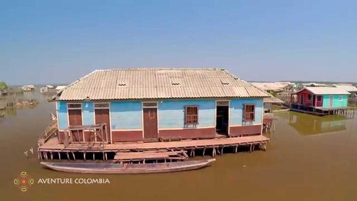 Nueva Venecia CIENAGA GRANDE de Santa Marta Colombia desde al Aire con Drone Aventure Colombia More information on our packages at : http://ift.tt/1iqhKT8