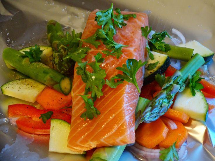 Edel's Mat & Vin : Laks i folie med grønnsaker og soyasaus ☀️