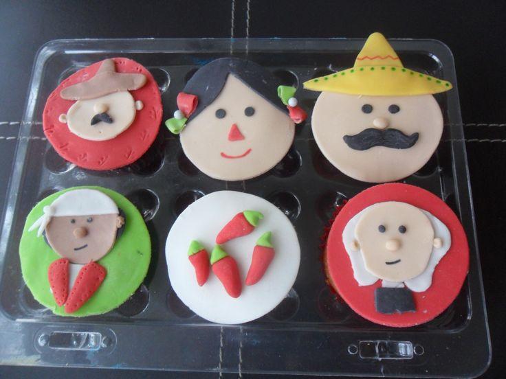 Día de la Independencia cupcakes