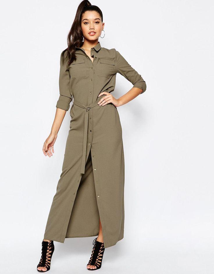 Image 1 - Missguided - Maxi robe chemise avec ceinture