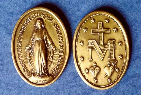 Miraculous Medal is a Powerful sacramental that was struck in 1830 at the request of the Blessed Mother herself.