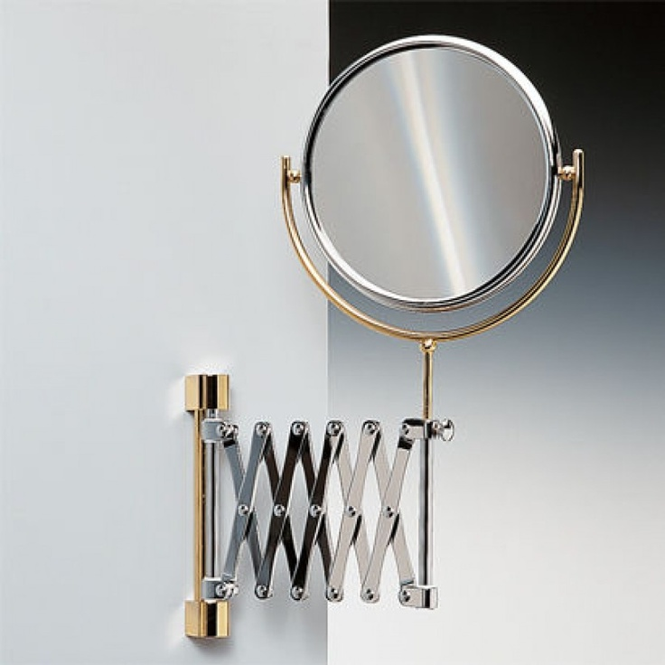 Windisch by Nameeks Double Face Wall Mounted Adjustable and Extendable 5X Magnifying Mirror - 99148-