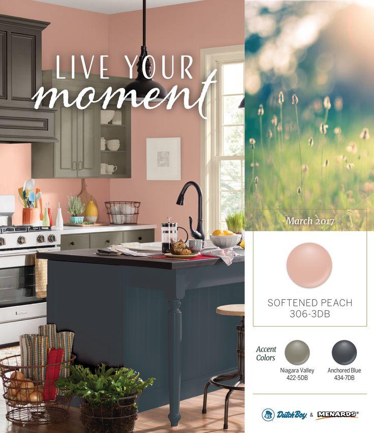 34 best paint images on pinterest paint colours - Peach color kitchen ...