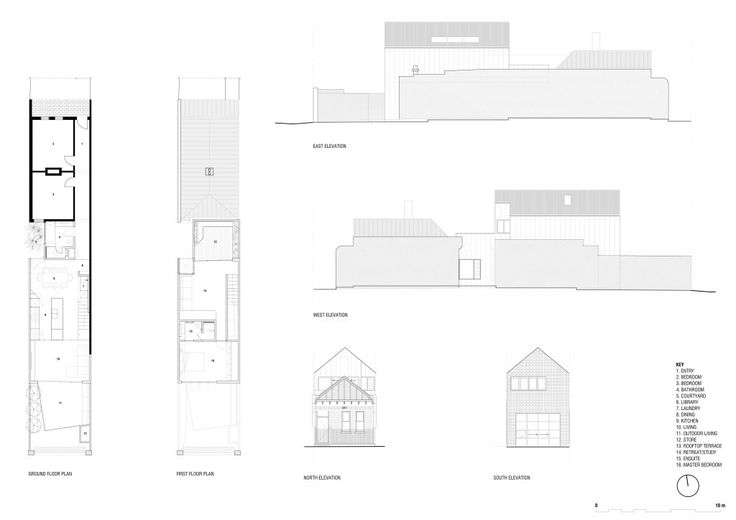 High House,Floor Plan / Elevations