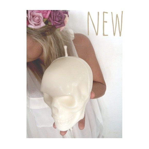 I'm in love with our NEW SKULL HEAD CANDLES. Just amazing. Available in White   Black. Email madisonandmontana@mail.com for preorders  #Padgram