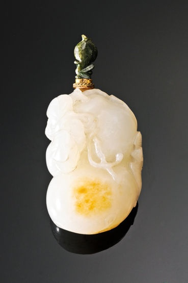 A white jade Snuff Bottle, probably 19th century. Photo courtesy Sworders