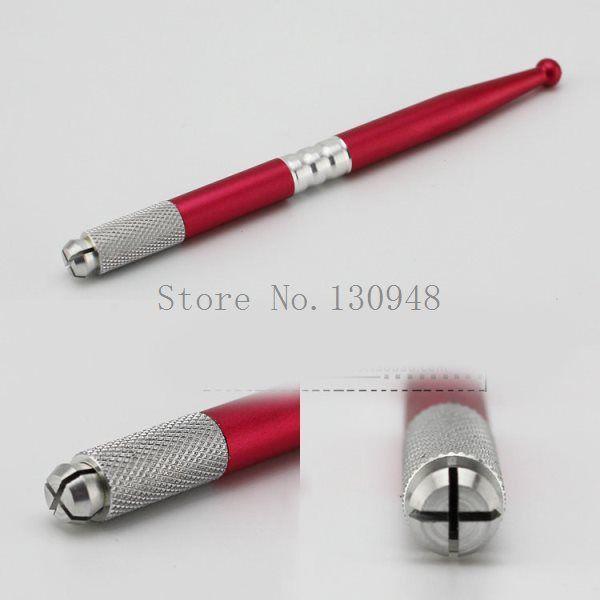 10 шт. профессиональный перманентный макияж красный руководство ручка для бровей татуировки ручка для 3D ручная перманентный макияж косметическая бровей купить на AliExpress