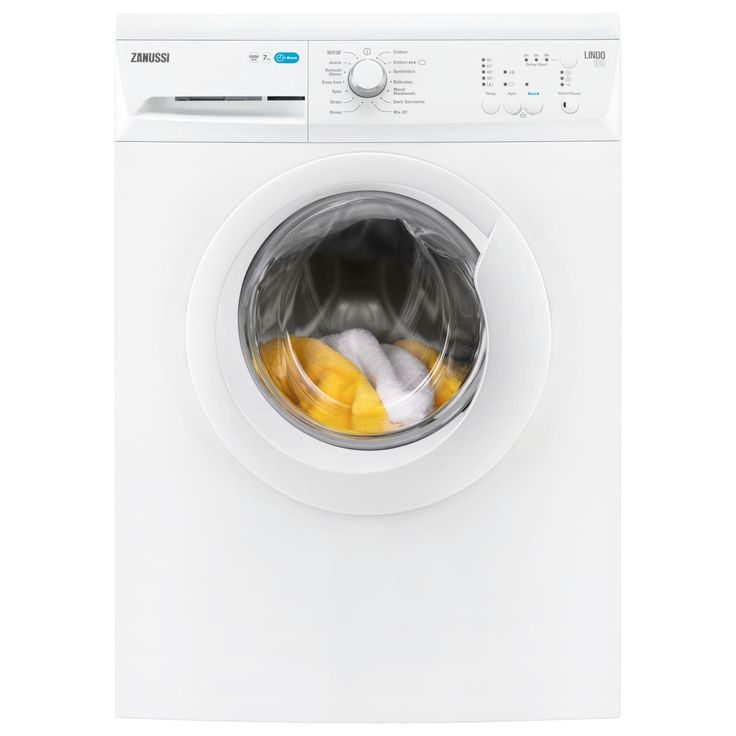 Buy Zanussi ZWF71240W Freestanding Washing Machine, 7kg Load, A+++ Energy Rating, 1200rpm Spin, White from our All Washing…