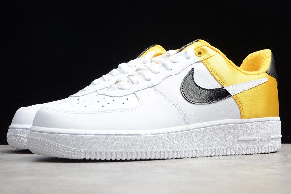 2019 Nike Air Force 1 '07 LV8 1HO19 AmarilloBlackWhite