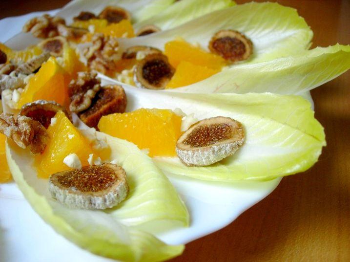 Receta de Ensalada de endibias y naranja