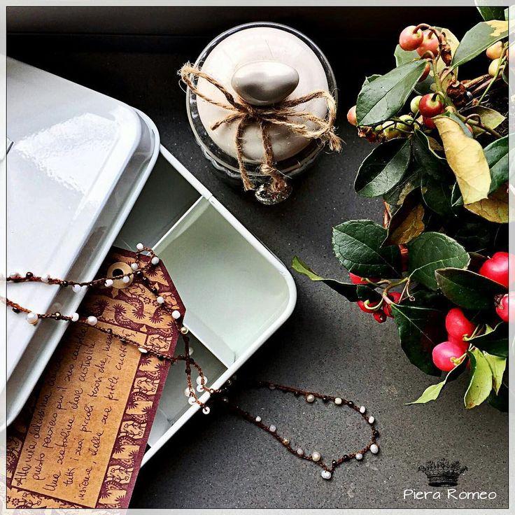 Precious friend, you'll will be there... 💕🙏🏼💕 . . . #homesweethome #casadolcecasa #homedecor #tortadinocciole #colori #colors #love #monferrato #onthetable #italianfood #italianstyle #italianmood #friend  #lovelysquares #stilllife #stilllifephotos #stilllifegallery #verilymoment #pieraromeodesign #handmadejewelry #pearl #crochetjewels #teabox #words #lovelywords #stilllife #click_vision #still_life_gallery #tv_colors #stilllifephotography