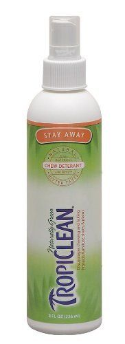 TropiClean Stay Away Pet Chew All Natural Safe Deterrent Spray for Dogs Cats 8 oz