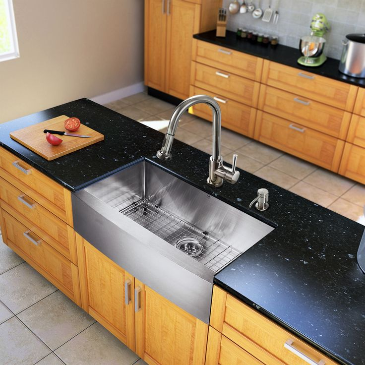 All Vigo kitchen sinks warranted to never rust. All VIGO kitchen sinks and faucets have a limited lifetime warranty. This sink is fully undercoated and padded with multi-layer sound eliminating technology which also prevents condensation.