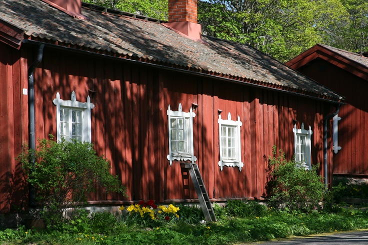 Houses in Billnäs village in Raseborg, Finland