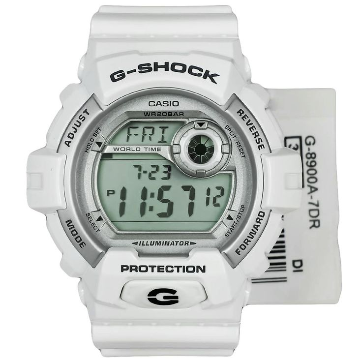 Casio G-Shock White Digital Watch G-8900A-7DR G8900A
