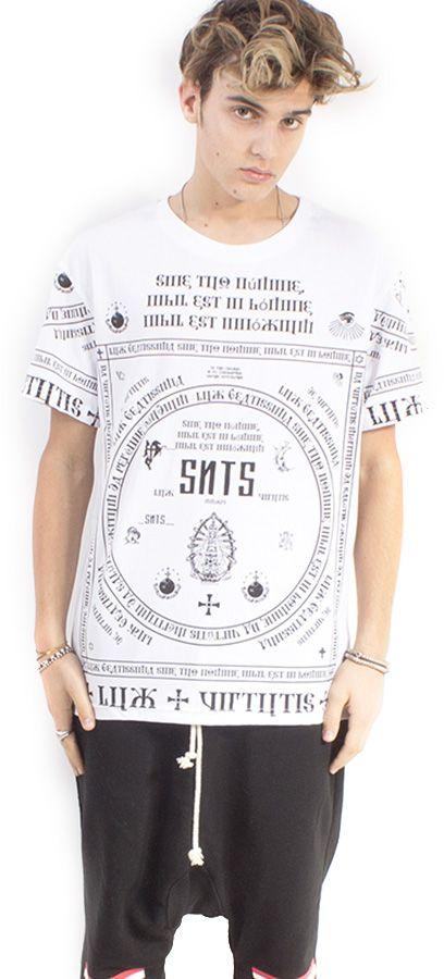 LONG TEE UNISEX BIANCO ST. CHURCH PRINT #lasaints #snts #dope #streetwear #tshirt #madeinitaly #fashion #tomaslanza #style #losangeles